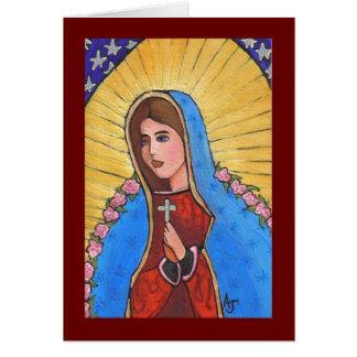 Nossa senhora de Guadalupe - cartão