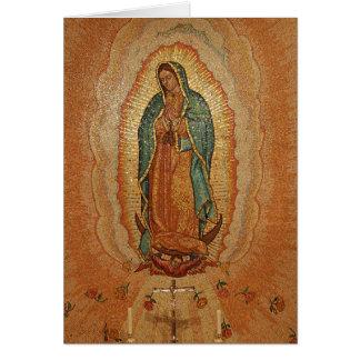 Nossa senhora de Guadalupe Cartão Comemorativo