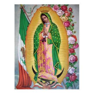Nossa senhora de Guadalupe com o cartão da