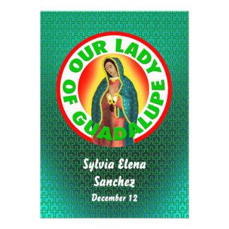Nossa senhora de Guadalupe convida Convites Personalizados