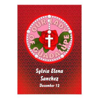 Nossa senhora de Guadalupe convida Convites Personalizado