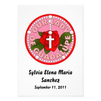 Nossa senhora de Guadalupe convida Convite