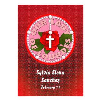 Nossa senhora de Lourdes convida Convites