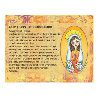 Nossa senhora do cartão de Guadalupe