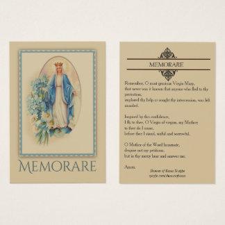 Nossa senhora do cartão santamente de Memorare da