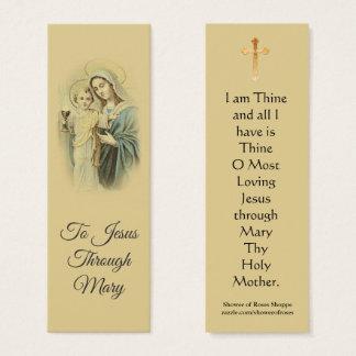 Nossa senhora do mini cartão santamente abençoado