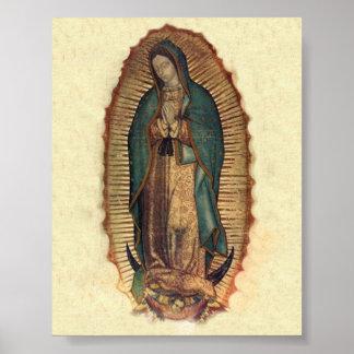 Nossa senhora do original do vintage de Guadalupe Pôster