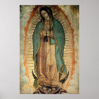 Nossa senhora do poster da réplica de Guadalupe