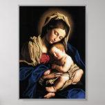 Nossa Senhora e o menino Jesus Poster