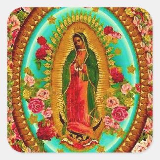 Nossa Virgem Maria mexicana do santo da senhora Adesivo Quadrado