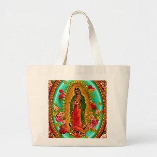 Nossa Virgem Maria mexicana do santo da senhora Bolsa Tote Grande