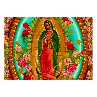 Nossa Virgem Maria mexicana do santo da senhora Cartão De Visita Grande