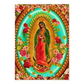 Nossa Virgem Maria mexicana do santo da senhora Convite 12.7 X 17.78cm