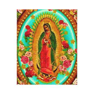 Nossa Virgem Maria mexicana do santo da senhora Impressão Em Canvas