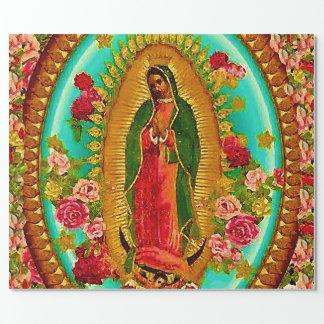 Nossa Virgem Maria mexicana do santo da senhora Papel De Presente