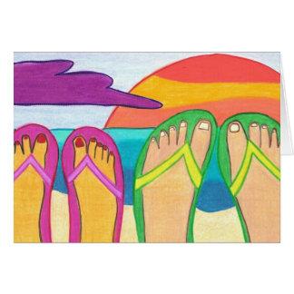 Nossas férias de verão cartão comemorativo