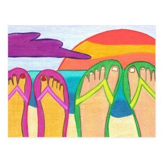 Nossas férias de verão cartão postal