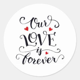 Nosso amor é para sempre etiqueta dos namorados