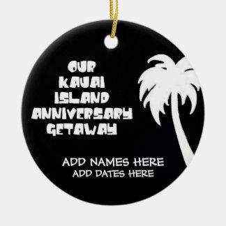 Nosso aniversário na ilha de Kauai Enfeite De Natal