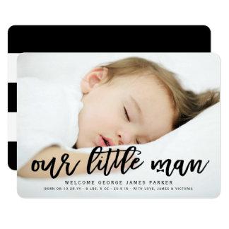 Cartão Nosso anúncio pequeno do nascimento da foto do