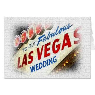 Nosso cartão de casamento de Las Vegas
