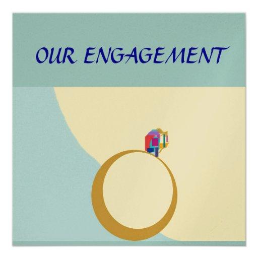 Nosso cartão feito sob encomenda de Engagement>Zaz Convites Personalizados