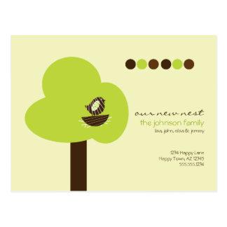 Nosso cartão movente do ninho novo