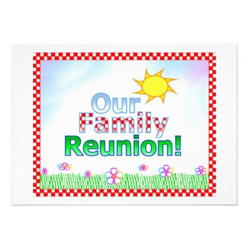 Nosso convite da reunião de família