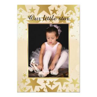 Nosso convite pequeno da foto da estrela