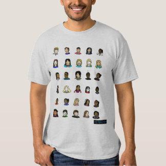 Nosso molde do cano principal da história da camisetas