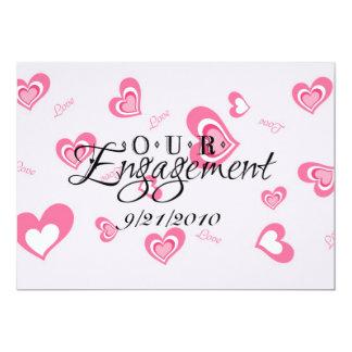 Nosso noivado convite personalizado