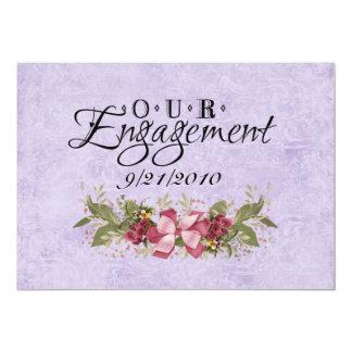 Nosso noivado convite 12.7 x 17.78cm