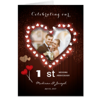 Nosso ø cartão do aniversário de casamento