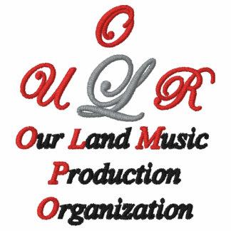 Nosso polo bordado costume da música da terra
