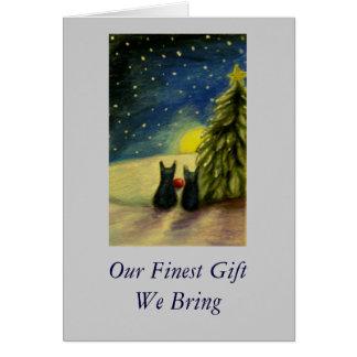 Nosso presente que mais fino nós trazemos cartão comemorativo