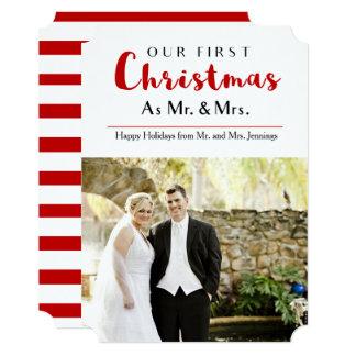 Nosso primeiro cartão com fotos do feriado do convite 12.7 x 17.78cm