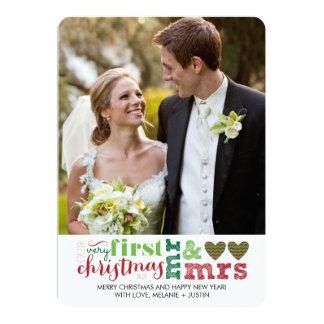 Nosso primeiro Natal como o Sr. & a Sra. Feriado Convite 12.7 X 17.78cm