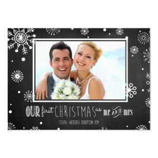 Nosso primeiro Natal como o Sr. e a Sra. Quadro Convite 12.7 X 17.78cm