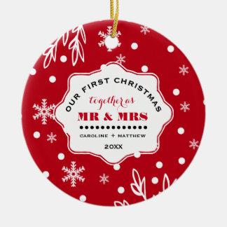 Nosso primeiro Natal. Ornamento feitos sob