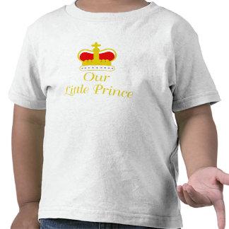 Nosso príncipe pequeno camisetas