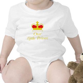 Nosso príncipe pequeno macacãozinhos para bebê