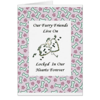 Nossos amigos peludos vivem fechado em nossos cartão