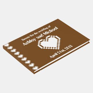 Nossos corações de 8 bits no livro de hóspedes do