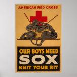 Nossos meninos precisam a guerra mundial 2 da cruz posteres