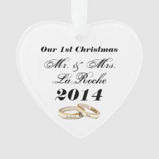 Nossos Sr. customizável & Sra. do primeiro Natal Ornamento