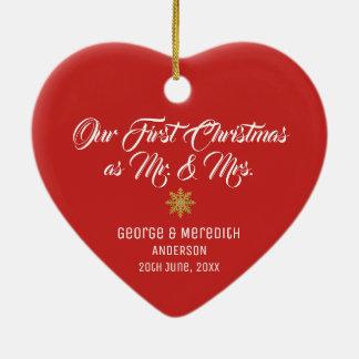 Nossos Sr. & Sra. casados primeiro Natal Ornamento
