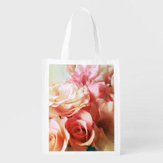 Nostalgia dos rosas sacolas ecológicas para supermercado