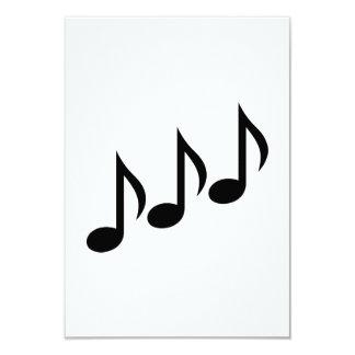 Nota a música convite