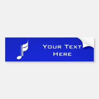 Nota azul da música adesivo para carro