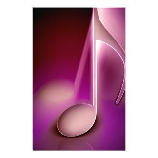 Nota cor-de-rosa da música papelaria